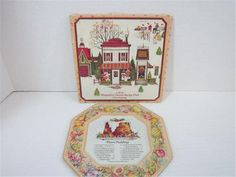 Vintage Avon Recipe Plate Plum Pudding Hospitality Sweets Recipe Card Included #plumpudding #avon #recipes