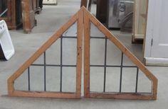 pair triangle leaded windows DKJ