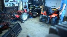 homemade hydraulic 3-point hitch for garden tractor - YouTube