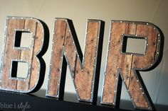 blue i style: {decorating with style} Restoration Hardware Knock Off Vintage Industrial Letters