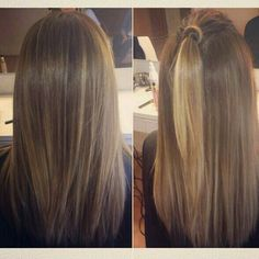 Really like these natural blonde highlights