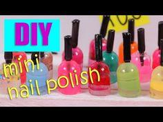 how to: miniature nail polish