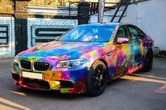 The next our implement joint project Dolce vita - chrome wrap and digital printing for BMW M5