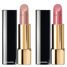 Chanel, Spring 2014, Jardin de Camelias Cosmetic Collection. Rouge Allure lipstick, Charmeuse (142) (Limited Edition) and Fleurie (137) (Limited Edition)