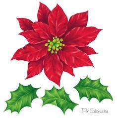 poinsettia christmas flowers bouquet clip art big 700x1022 clip rh pinterest com christmas poinsettia clip art free