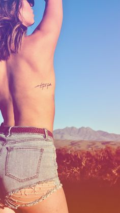 #tattoo #mountains #desert #ribtattoo #topless #hike #freespirit #tattooplacement
