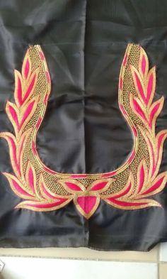 Best Blouse Designs, Simple Blouse Designs, Silk Saree Blouse Designs, Bridal Blouse Designs, Diy Embroidery Designs, Mehndi Designs 2018, Hand Work Blouse Design, Tambour Embroidery, Embroidery Suits