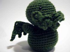 Cthulhu Crochet Amigurumi.  Pattern from Ravelry.