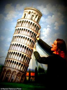 Leaning Tower of Pisa feature in the Trick Eye Museum.