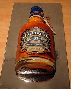cake chivas regal bottle - mens birthday