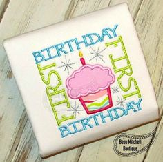 1st Birthday Square applique embroidery design by BeauMitchellBoutique on Etsy https://www.etsy.com/listing/199286395/1st-birthday-square-applique-embroidery