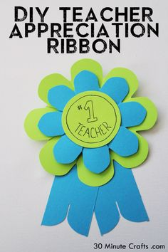 DIY Teacher Appreciation Ribbon