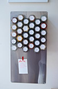 Install a magnetic spice rack if you have limited cupboard space. | 27 Genius Solutions For Your Kitchen Woes