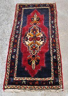 Turkish Tribal Yastik Rug 3 ft. 8 in. by 2 ft. by Devildingocafe