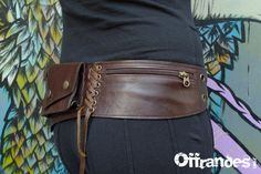 Leather Utility Hip Belt _GALACTIK_ High Quality by offrandes