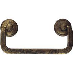 Classic Hardware 1800 Circa Squared Brass Drop Pull