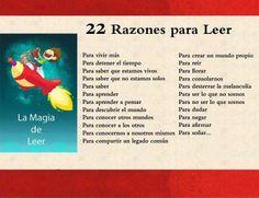 22 razones para leer.