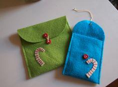 DIY felt envelopes for gift cards