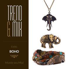 Acessórios estilo Boho, confira nossa seleção especial!  #acessorios #boho #elefante #style #estilo #fashion #elephant #tribal #accessories
