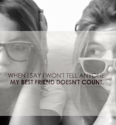 """Because, You HAVE To Share Everything With Your BFF's...No Matter Your Age!!  It's A """"Rule!!"""" Ellie and Kaileigh are my besties so if your telling me a secret theyll hear it too!"""