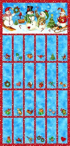 Winter Magic Advent Calendar Panel