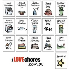 Kid Chores Clip Art & Worksheets | Teachers Pay Teachers