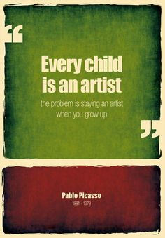 Remember how creative you were as a kid?  You still are...  photo source:  droppixel.com