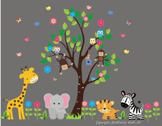 Tropical Jungle IMIKIMI Pinterest - Wall decals for church nursery