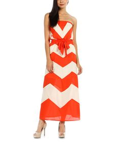 Look at this Jade Zigzag Strapless Maxi Dress on #zulily today!