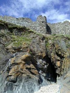 peel isle of man | Peel, UK: On Fenella Beach looking up at the Castle walls.