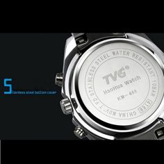 TVG 468 Men 3 Dial LED Display Analog-Digital Military Wrist Watch online - NewChic