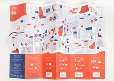 Design of an interactive map based on several students' route, in Marseille, France. Web Design, Graphic Design Layouts, Graphic Design Typography, Graphic Design Illustration, Brochure Design, Graphic Design Inspiration, Brochure Layout, Book Design, Layout Design