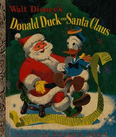 Donald Duck and Santa Claus-cover    Illustrated by Al Dempster  Told by Annie North Bedford  Copyright 1952