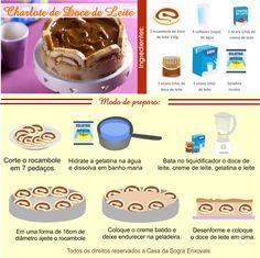 Aprenda a fazer uma DELICIOSA CHARLOTE DE DOCE DE LEITE.  Veja mais em nosso blog: http://dicasdacasa.com/receita-charlote-doce-de-leite/