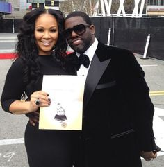 Gospel Singers Mary Mary: Throw back picture of Erica and Warryn Campbell at the Grammy Awards