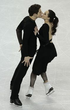 Tessa Virtue and Scott Moir representing Canada   skate their free program in the dance competition at the 2013 World Figure Skating Championships in London, Ontario, March 16, 2013.