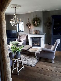 Home Decoration For Living Room My Living Room, Home And Living, Living Room Decor, Living Spaces, Style At Home, Family Room, Home And Family, Interior And Exterior, Interior Design