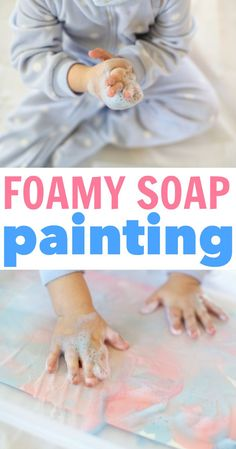 Foamy Soap Painting for Toddlers:  Such a fun process art activity that leaves a marbled effect on the paper!