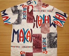 Mens Vintage 60s Makaha Surf Championships Duke Kahanamoku Hawaiian Aloha Tiki Shirt - L - The Hana Shirt Co