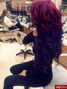 ombre hair~love these colors