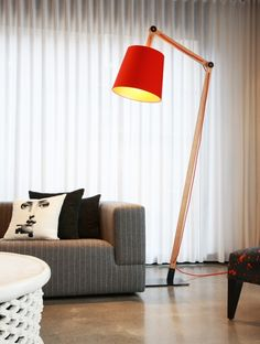 George lamp in Red