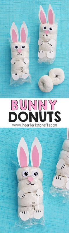 Easter Bunny Donuts With my son in preschool I'm always lookin., Easter Bunny Donuts With my son in preschool I'm always looking for prepackaged snack ideas for snacks days and classroom parties. Easter Snacks, Easter Treats, Easter Party, Easter Recipes, Easter Food, Easter Stuff, Easter Gift, Hoppy Easter, Easter Bunny