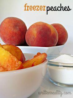 How to Freeze Peaches- it's SUPER EASY! {writtenreality.com} #peaches