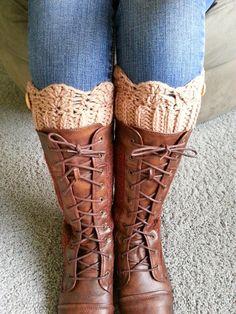Scalloped Boot Cuffs ~ Free  Pattern