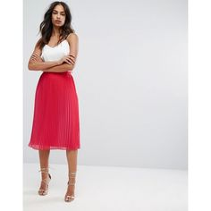 Warehouse Pleated Two Tone Midi Skirt (4.795 RUB) ❤ liked on Polyvore featuring skirts, pink, calf length skirts, high-waisted skirts, mid calf skirts, zipper skirt and knee length pleated skirt