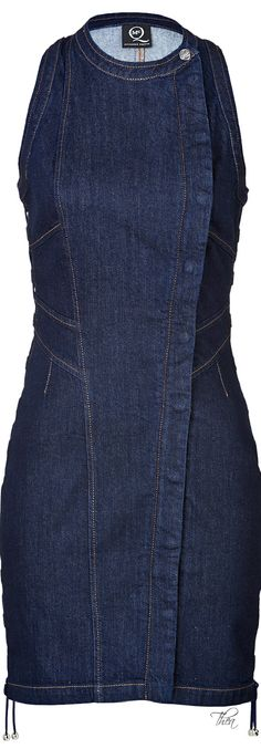 McQ by Alexander McQueen Blue Bodycon Denim Dress | The House of Beccaria~