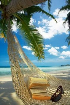 sweet spot for relaxing by the sea in a hammock & cool breeze