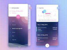 """""""Calendar Design Inspiration"""" is published by Muzli in Muzli - Design Inspiration. Web Design, App Ui Design, Interface Design, Flat Design, Interface App, Graphic Design, Game Design, Interaction Design, Design Thinking"""
