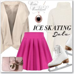 Skate Date: Ice Skating Outfit by jecakns on Polyvore featuring moda, Victoria Beckham and Riedell