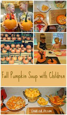 Fall Pumpkin Soup with Children